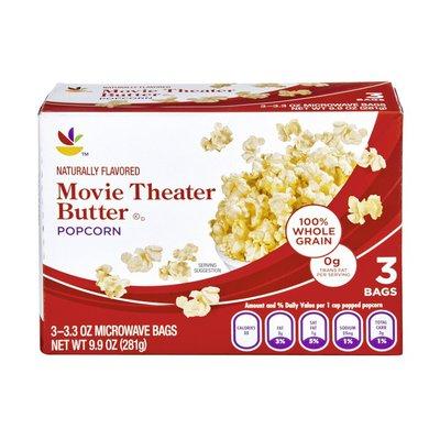 SB Movie Theater Butter Popcorn - 3 CT