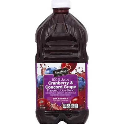 Signature Kitchens 100% Juice, Cranberry & Concord Grape