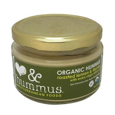 Love And Hummus Co Organic Hummus Roasted Lemon & Thyme With Extra Virgin Olive Oil