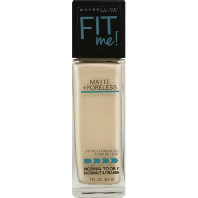 Maybelline Foundation with Clay, Matte + Poreless, Porcelain 110