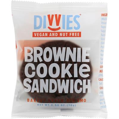 Divvies Cookie Sandwich, Brownie