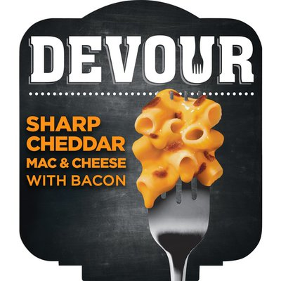 Devour Sharp Cheddar Mac & Cheese Bowl with Bacon Dinner Kit