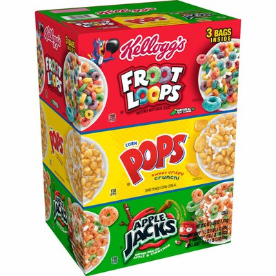 Kellogg's Breakfast Cereal, 8 Vitamins and Minerals, Variety Pack