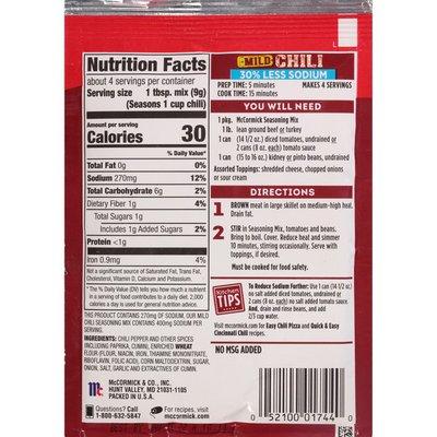 McCormick®  30% Less Sodium Chili Mild Seasoning Mix