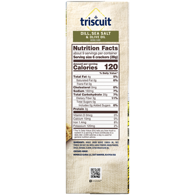 Triscuit Dill, Sea Salt & Olive Oil Crackers