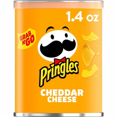 Pringles Potato Crisps Chips, Lunch Snacks, Office and Kids Snacks, Cheddar Cheese