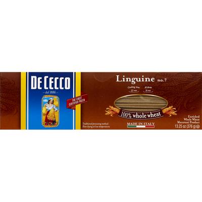 De Cecco Linguine, 100% Whole Wheat, No. 7