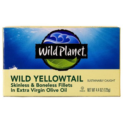 Wild Planet Wild Yellowtail, Skinless & Boneless Fillets in Extra Virgin Olive Oil
