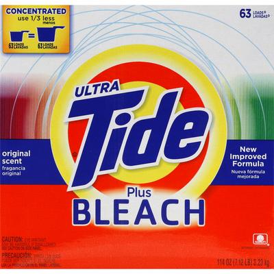 Tide Detergent, Ultra, Plus Bleach, Original Scent