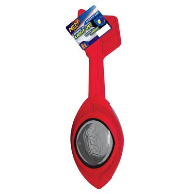 "Nerf 12"" Red Holiday TPR LED Megaton Vortex Football"