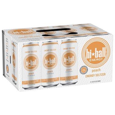 Hiball Energy Peach Sparkling Water