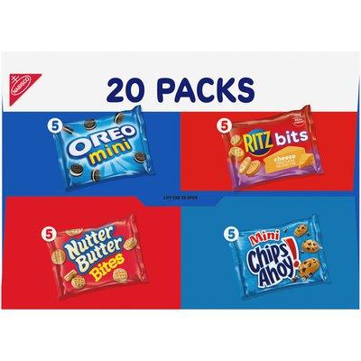 RITZ Variety Pack Classic Mix Cookies & Crackers, 5 Varieties