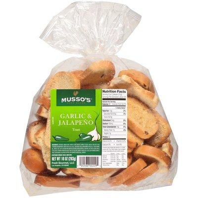 Musso's Oven Baked Garlic & Jalapeño Toast