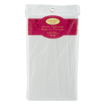 Gourmet Club Plastic Tablecloth