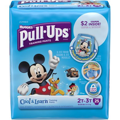 Pull-Ups Cool & Learn 2T-3T Boys Training Pants