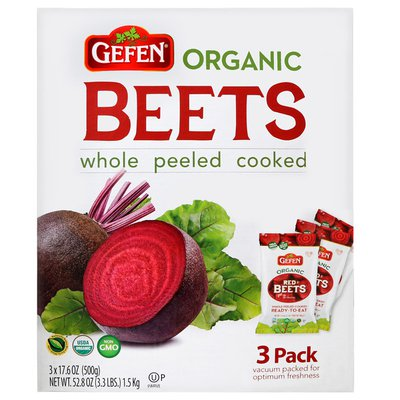 Organic Gefen Whole Red Beets