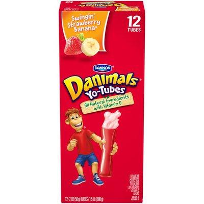 Danimals Low Fat Yogurt Tubes Swinging Strawberry Banana