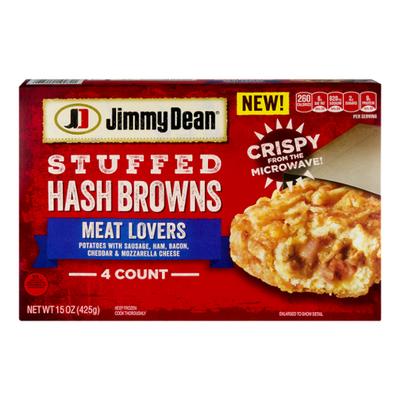 Jimmy Dean Meat Lovers Stuffed Hash Browns Frozen Breakfast
