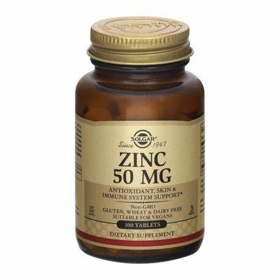 Solgar Zinc, 50 mg, Tablets