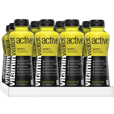 vitaminwater active lemon lime sports drink w/ antioxidants and electrolytes