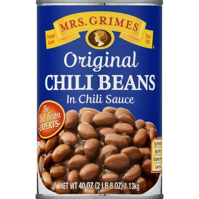 Mrs. Grimes Chili Beans in Chili Sauce, Original