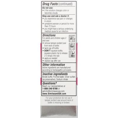Similasan Pink Eye Relief, Homeopathic