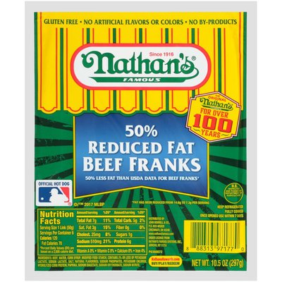 Nathan's Famous 50% Reduced Fat Beef Franks