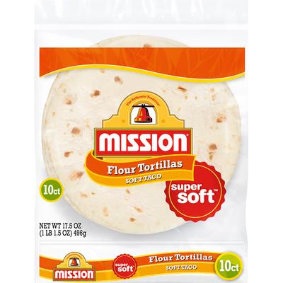 Mission Super Soft Soft Taco Flour Tortillas
