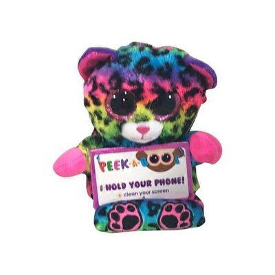 Ty Peek-A-Boos Lance Multicolor Leopard Plush Phone Holder