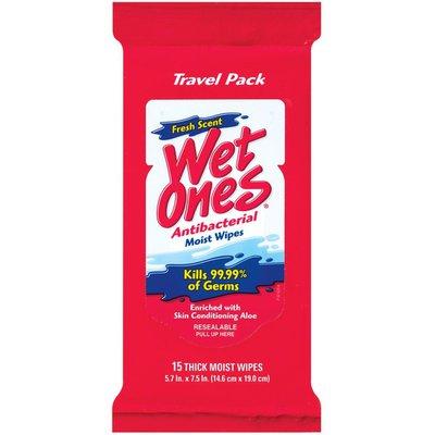 Wet Ones Hands & Face Fresh Scent Antibacterial Wipes