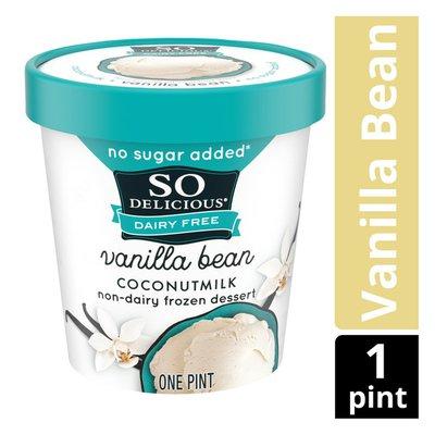 So Delicious Dairy Free No Sugar Added Vanilla Bean Coconut Milk Frozen Dessert