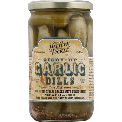 Yee-Haw Pickle Dills, Giddy-Up Garlic