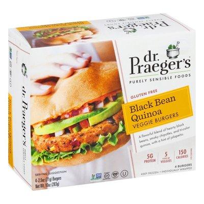 Dr. Praeger's Veggie Burgers, Gluten Free, Black Bean Quinoa