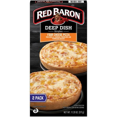 Red Baron Deep Dish Singles Four Cheese Pizzas