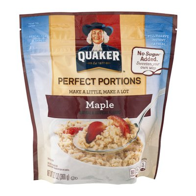 Quaker Perfect Portions Instant Oatmeal Maple