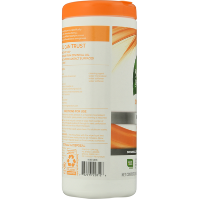 Seventh Generation Disinfecting Multi-surface Wipes Lemongrass Citrus Scent