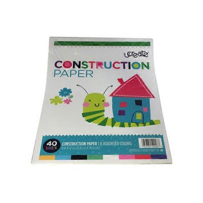 "Carolina Pad UCreate 9"" x 12"" Assorted Colors Construction Paper"