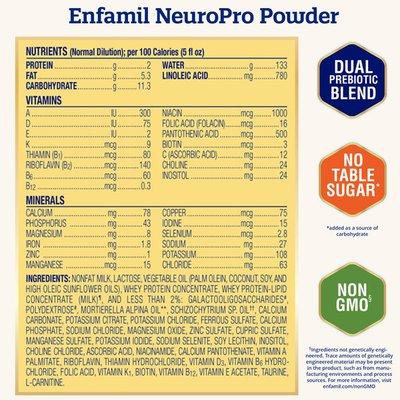 Enfamil® NeuroPro Infant Formula - Brain Building Nutrition Inspired by Breast Milk - Reusable Powder Tub