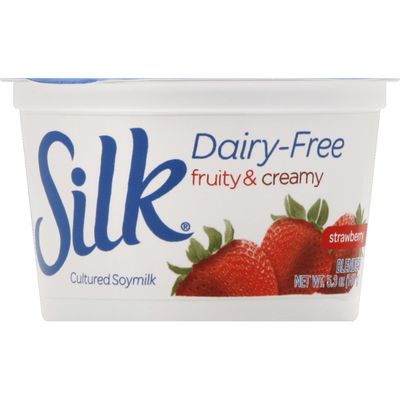 White Wave Cultured Soymilk, Dairy-Free, Blended Strawberry