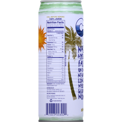 C2O Pure Coconut Water C2O Coconut Water with Pulp