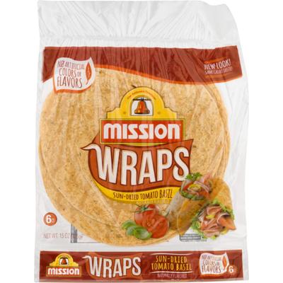 Mission Wraps Sun-Dried Tomato Basil Tortillas
