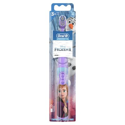 Oral-B Kid'S Battery Toothbrush Featuring Disney'S Frozen, Soft Bristles, For
