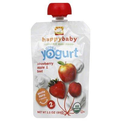 Happy Baby Happy Baby Organic Baby Food Stage 2 Greek Yogurt Strawberry, Apple & Beet
