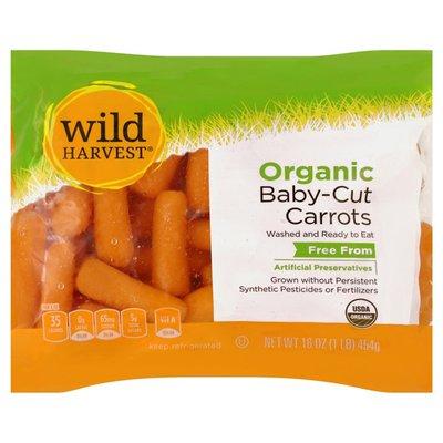 Wild Harvest Carrots, Organic, Baby-Cut