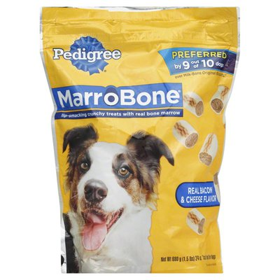 Pedigree Snack Food for Dogs, Real Bacon & Cheese Flavor