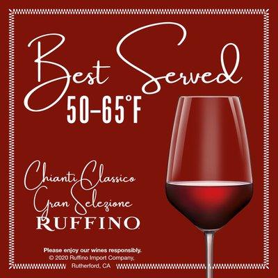 Ruffino Riserva Ducale Oro Gran Selezione Chianti Classico DOCG Sangiovese Italian Red Wine