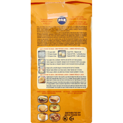 P.a.n. Corn Meal, Yellow, Pre-Cooked