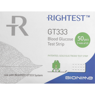 Rightest Blood Glucose Test Strips, GT333