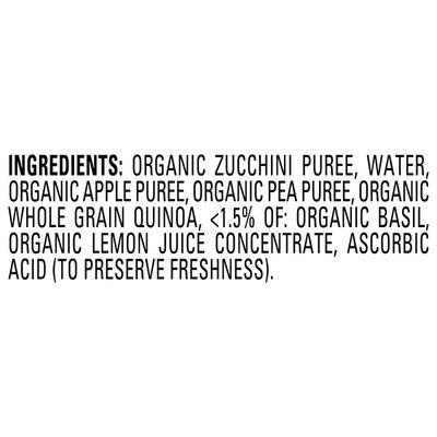Happy Baby Zucchini, Apples, Peas, Quinoa & Basil