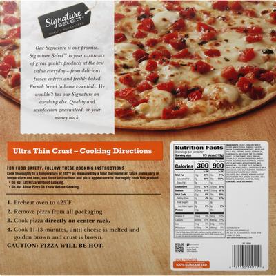 Signature Select Pizza, Margherita, Ultra Thin Crust